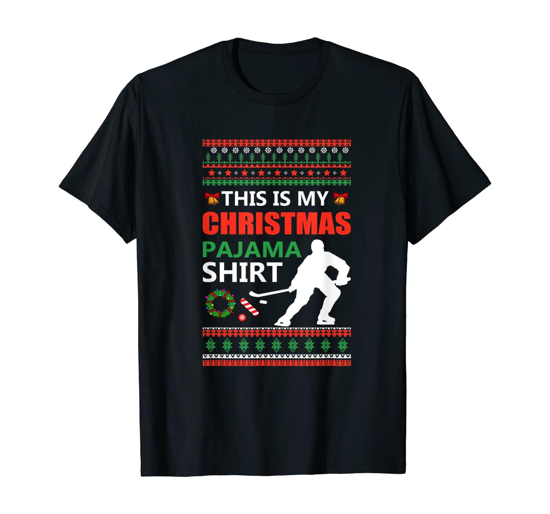 Funny Ice Hockey Christmas Pajama Ugly X Mas Sweater T-Shirt