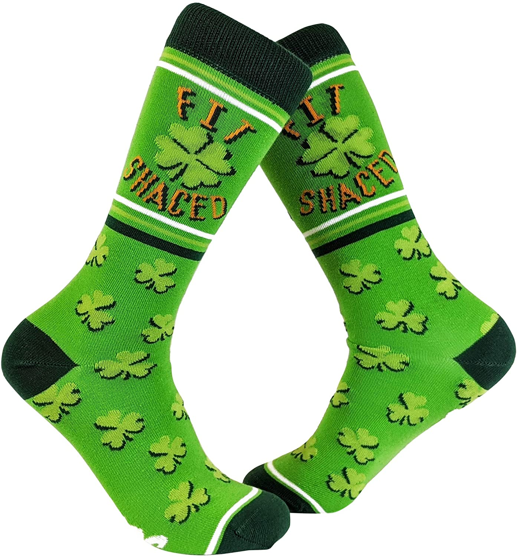 Fit Shaced Socks Funny St Patricks Day Irish Drinking Party Novelty