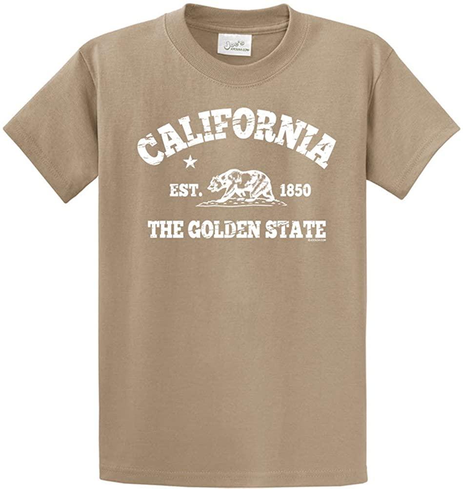 Joe's USA(tm California Est 1850 T-Shirts in Dusty Brown Small