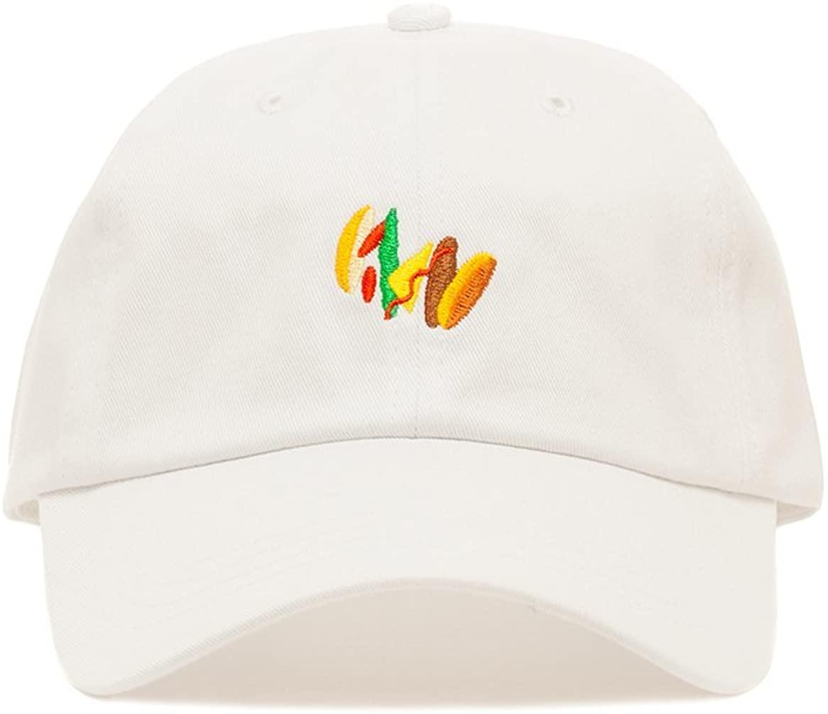 Premium Embroidered Burger Life Dad Hat - Baseball Cap with Adjustable Closure White