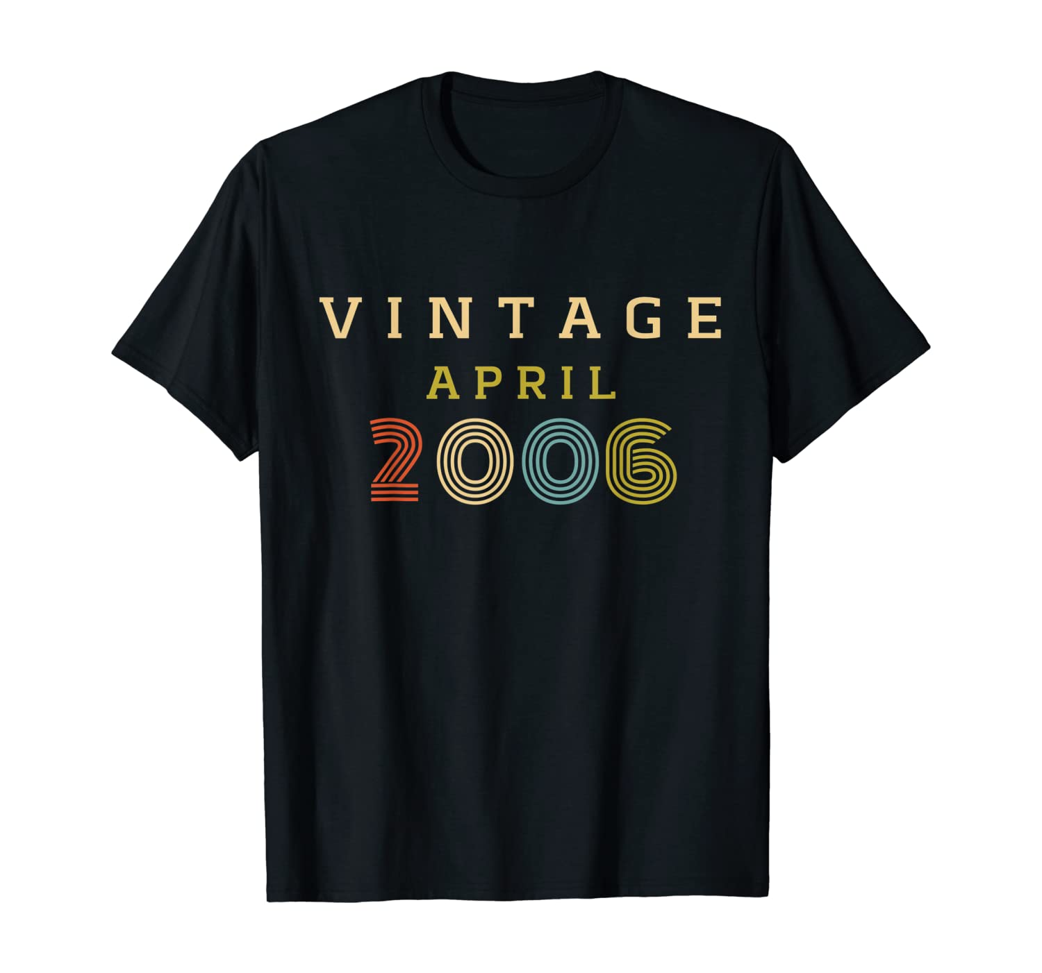 14 Year Old Birthday Gift Vintage 2006 April T-Shirt
