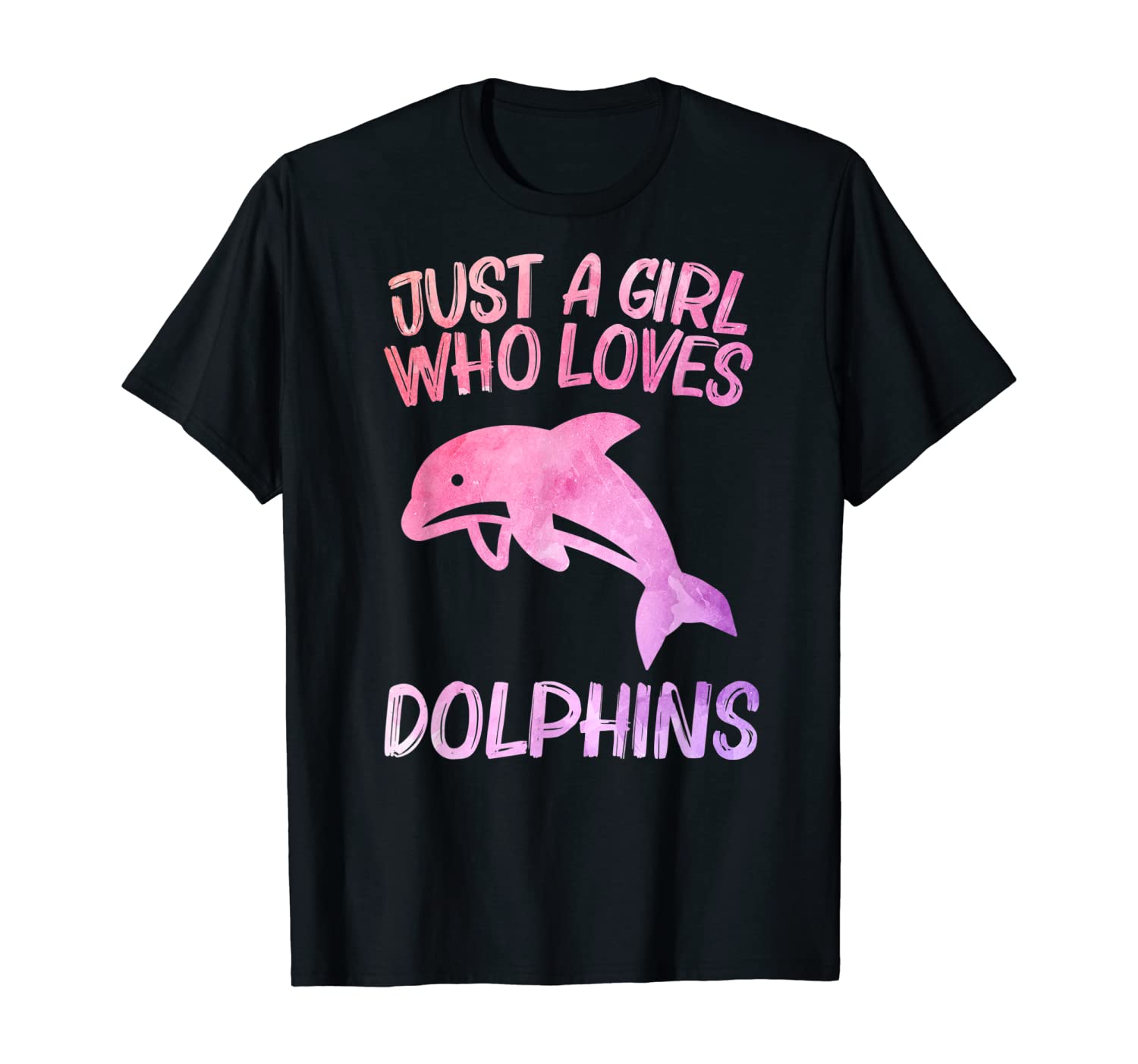 Just A Girl Who Loves Dolphins Gift For Women Beluga Fish T-Shirt