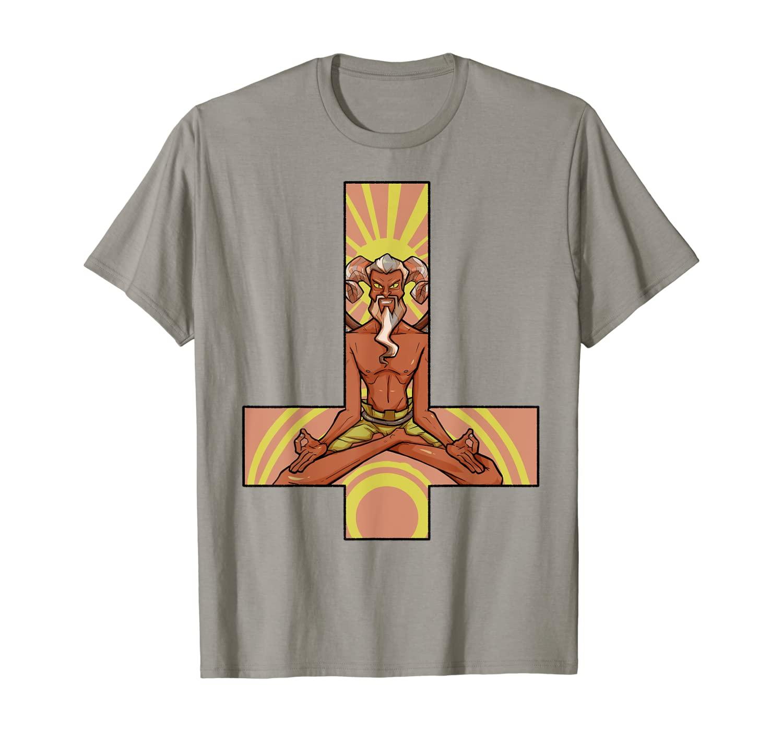 Heavy Metal Satan Devil Inverted Petrus Cross Headbanger T-Shirt