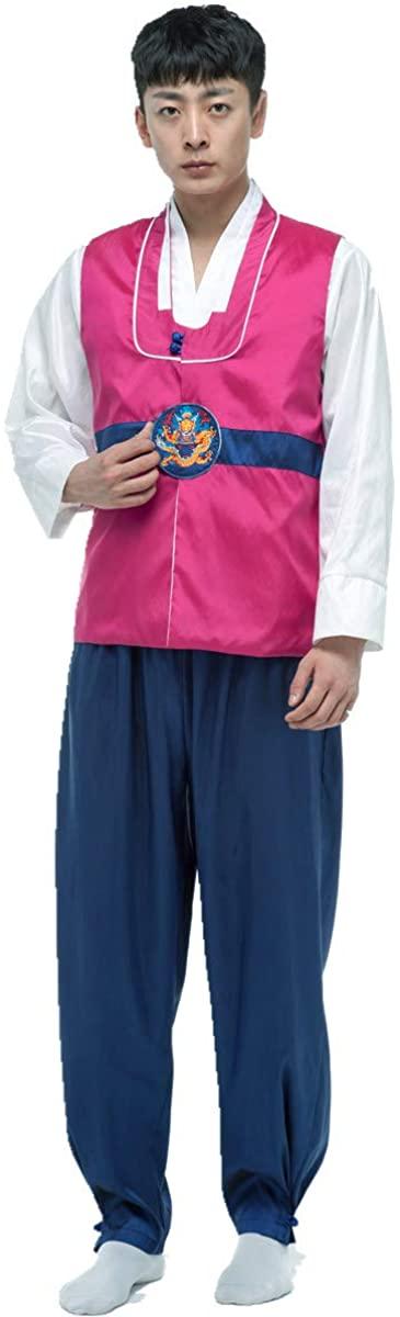 XINFU Mens Boys Korean Traditional Court Dress Costume Hanbok Cosplay 3pcs Sets