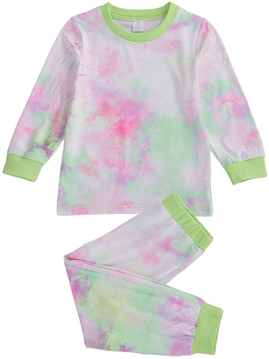 Toddler Kid Baby Boy Girl Tie Dye Outfit Short Sleeve Top and Shorts Summer Clothes 2Pcs Suit
