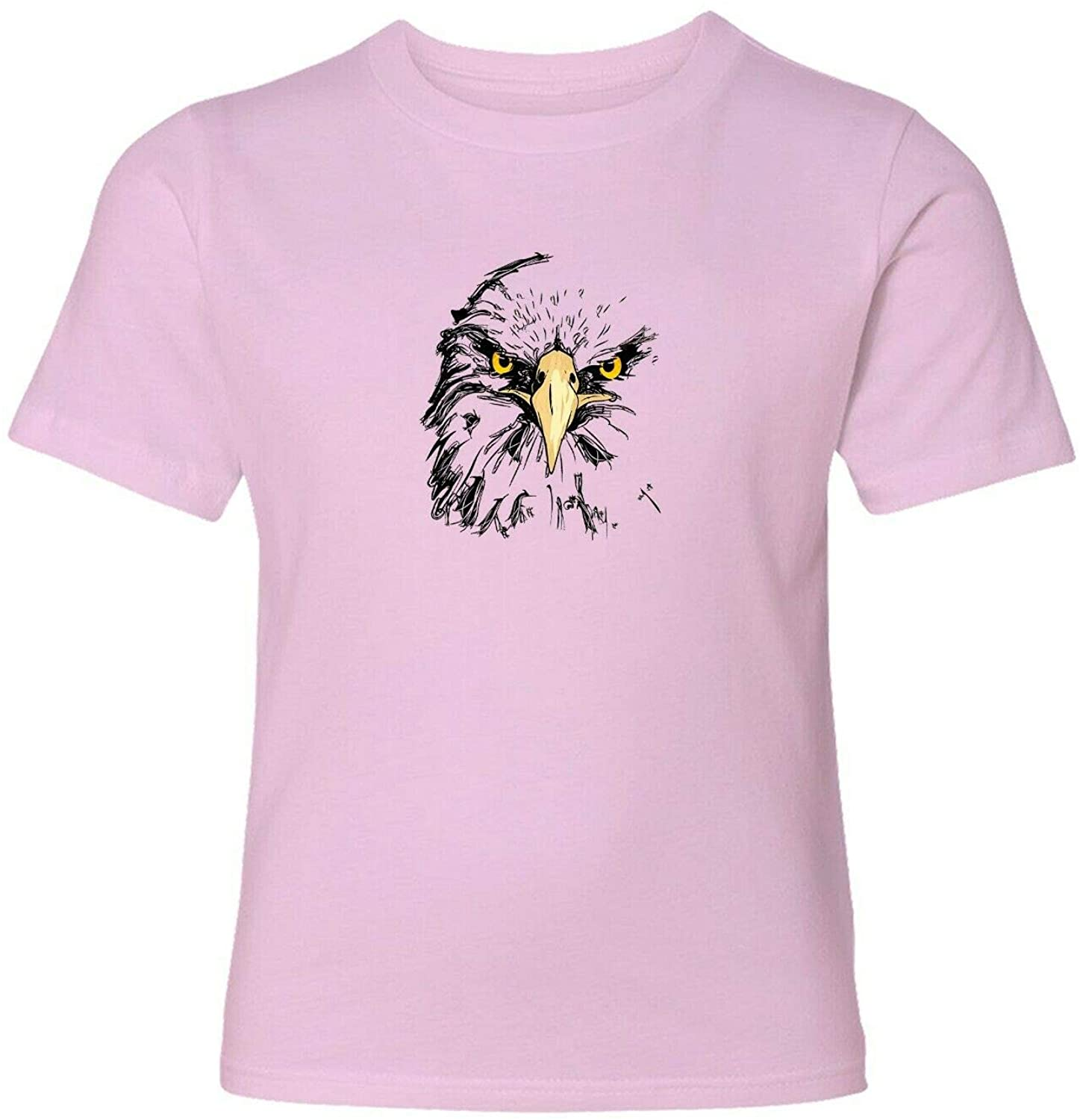 Eagle Face Unisex Mens Women Crew Neck Tee T-Shirt Printed Gift Shirts