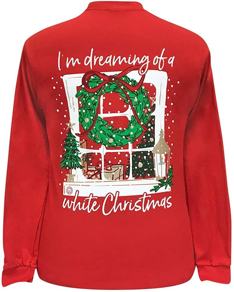 Girlie Girl I'm Dreaming Christmas Long Sleeve T-Shirt Adult