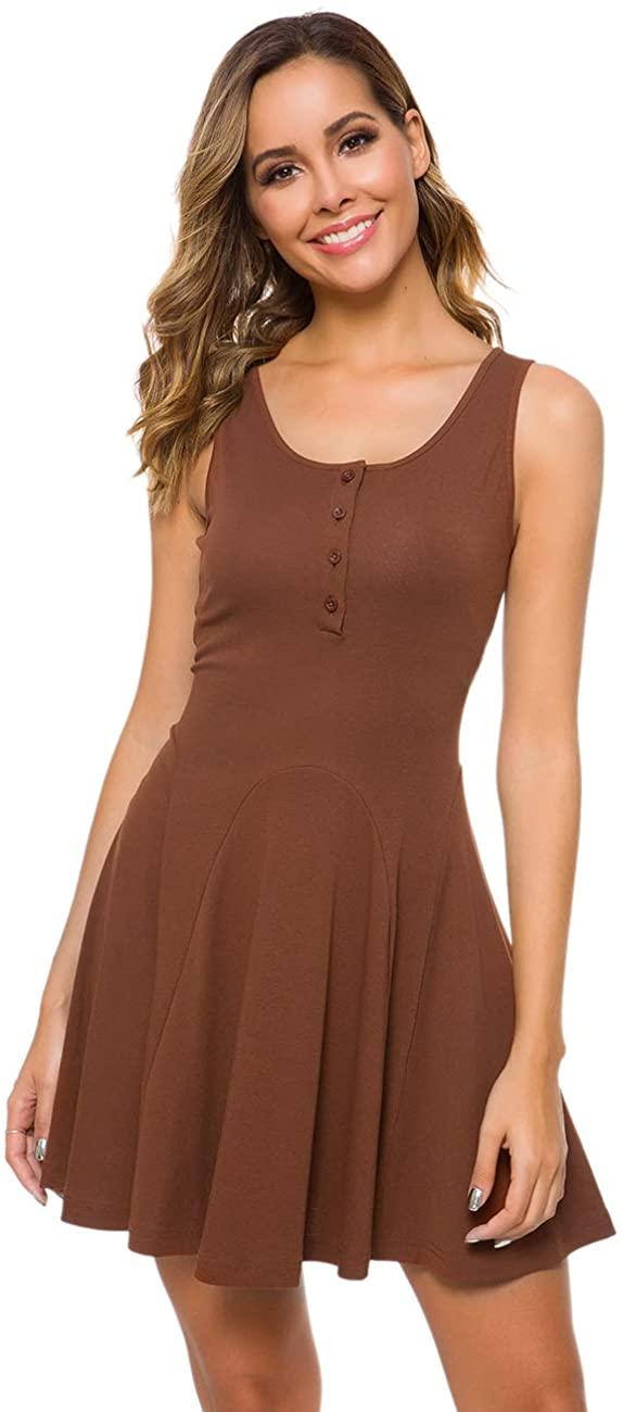 M T 4 YOU Women Summer Casual Short Sundresses Mini Tank Dresses