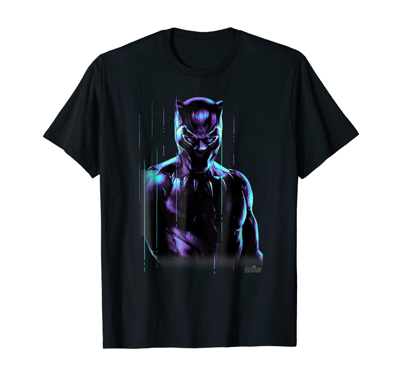Marvel Infinity War Black Panther Neon Glow Graphic T-Shirt