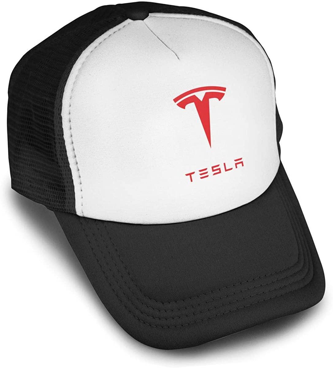 New Tesla Auto Logo Baseball Cap Adjustable Hip Hop Flat Hats Men Womens Cool Peaked Trucker Hats
