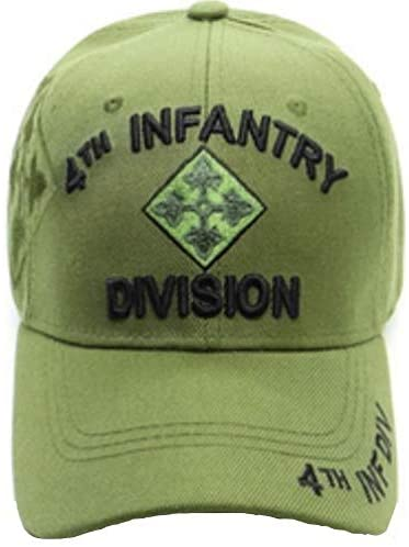 4th Infantry Division Military Cap, Green