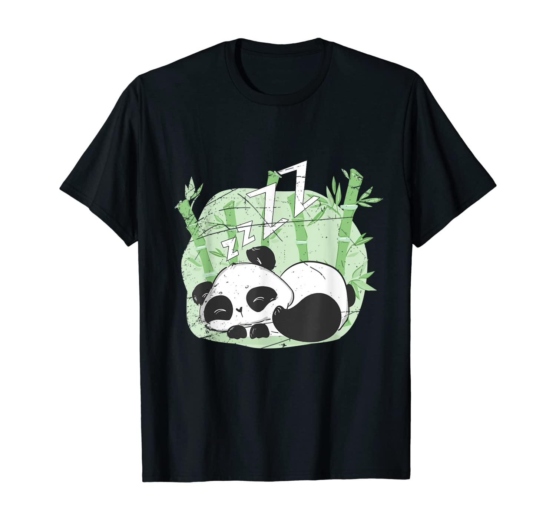 Sleepy Panda Nap Sleeping Panda Gift Sleeping T-Shirt