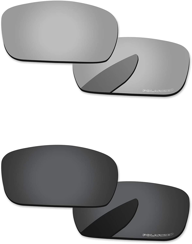 PapaViva Polarized Lenses Replacement for Oakley Crankshaft 2 Pairs Packed