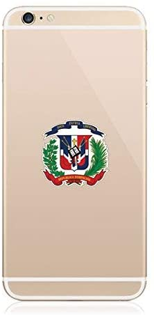 2X - Dominican Coat of Arms Cell Phone Sticker Die Cut Decal Self Adhesive Vinyl Made in USA