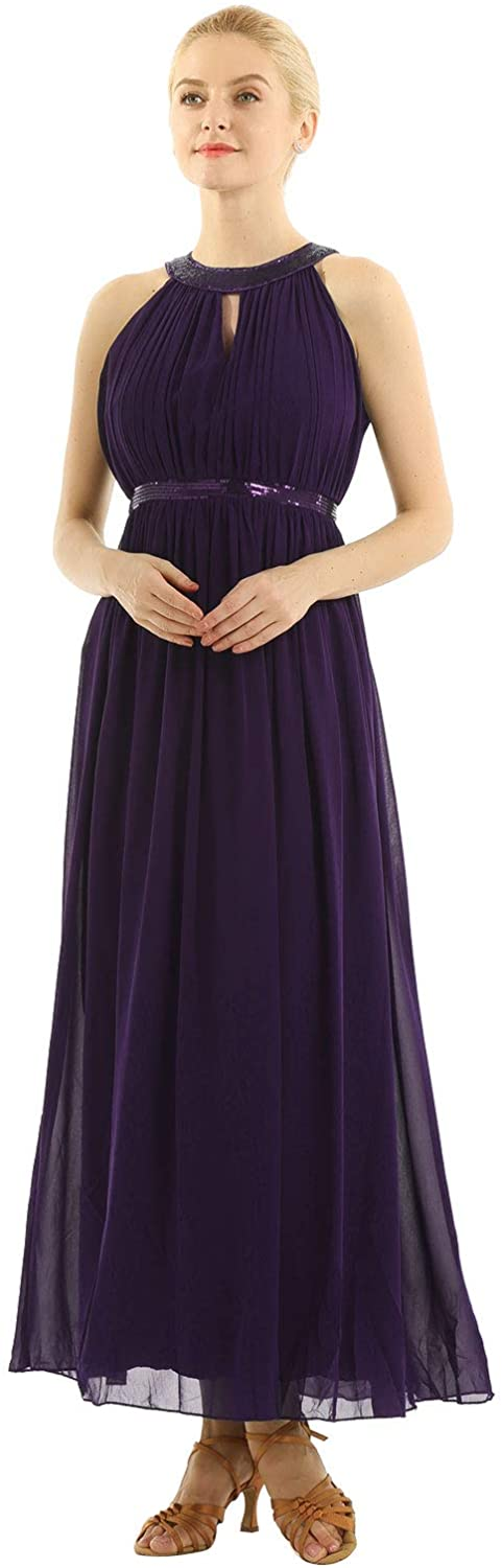 YiZYiF Women's Chiffon Bridesmaid Dresses Long Evening Prom Gowns Cocktail Party Dress