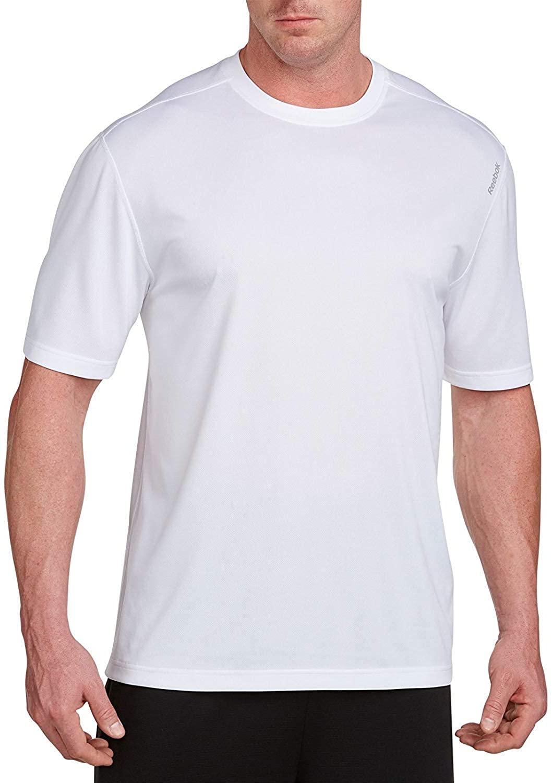 Reebok Big and Tall Play Dry Tech T-Shirt (2XL, White)