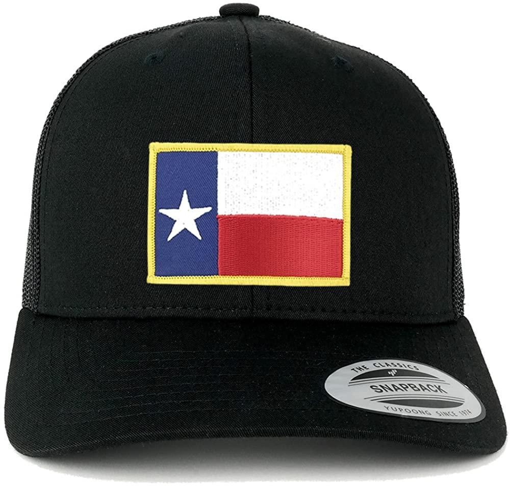 Armycrew Flexfit Oversize XXL Texas State Flag Patch Retro Trucker Mesh Cap