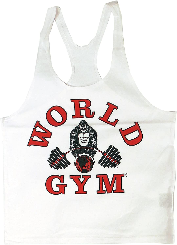 World Gym W300 String Mens Tank Top