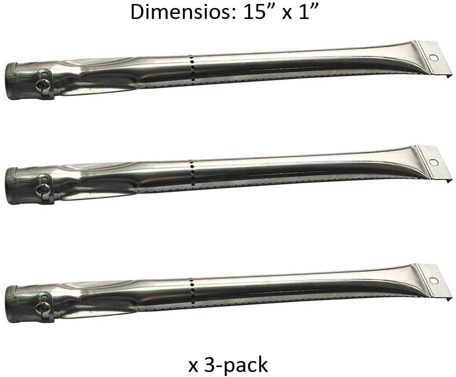 BBQ Mart S6221 Stainless Steel Burner Replacement for Charbroil, Grill Master, Nexgrill, Kenmore & Uberhaus Gas Grill Models
