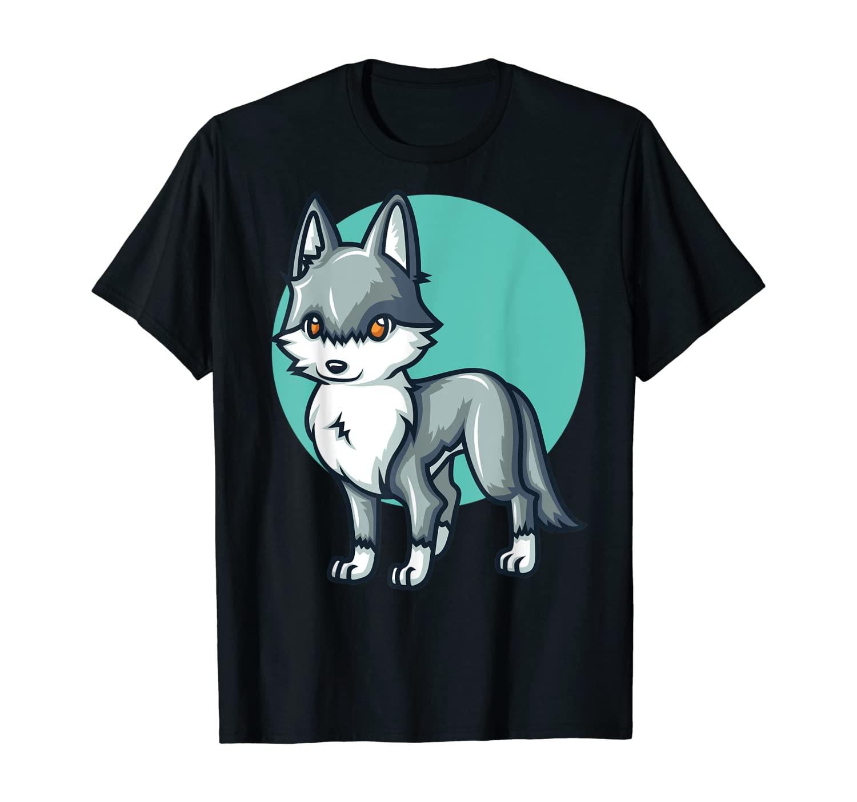 Wolf Kawaii Anime Cute Chibi Animal Lover Funny Gift T-Shirt