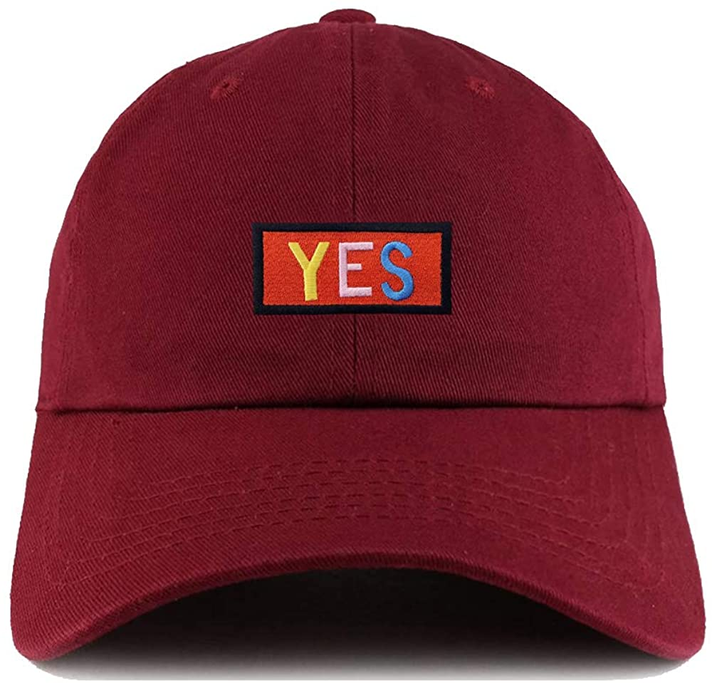 Embroidered YES Novelty Baseball Hats Adjustable Snapback Dad Hats for Design