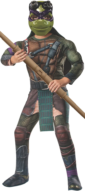 Rubies Teenage Mutant Ninja Turtles Deluxe Muscle-Chest Donatello Costume, Medium