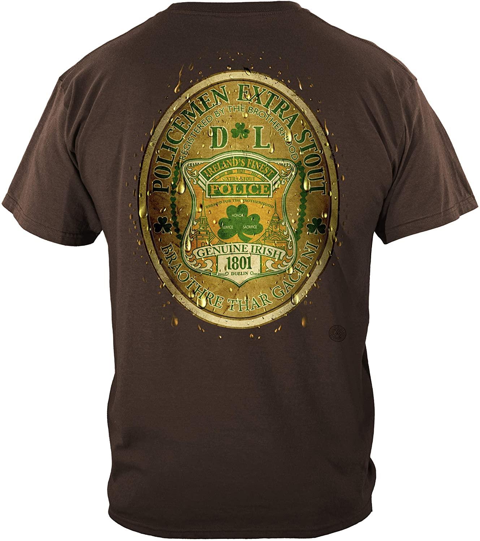Thin Blue Line T Shirt - Law Enforcement Gear for Men - Law Enforcement - FF2076