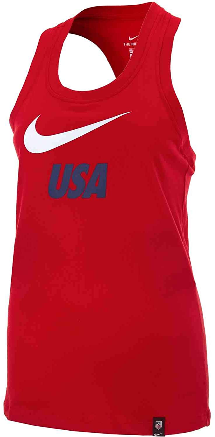 Nike USA 2019-20 Graphic Womens Tank Top - Red M