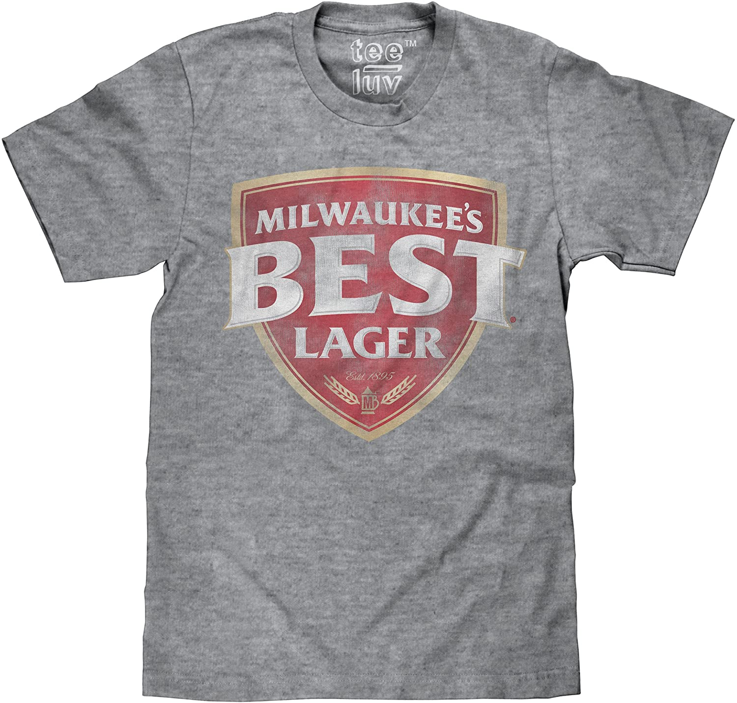 Tee Luv Milwaukee's Best Lager T-Shirt - Retro Milwaukees Beer Logo T-Shirt