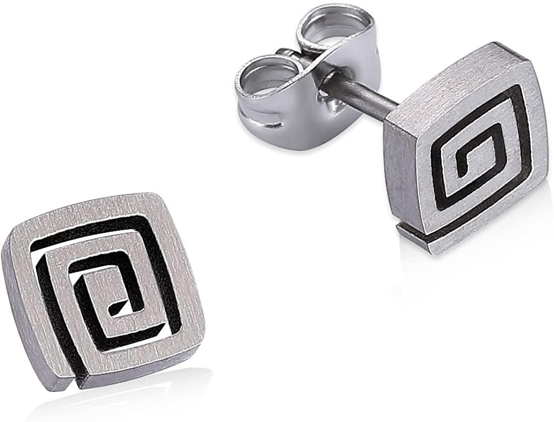 LEYA Women Stud Earrings Pure Titanium Anti-Allergy Nick Free Health Jewelry