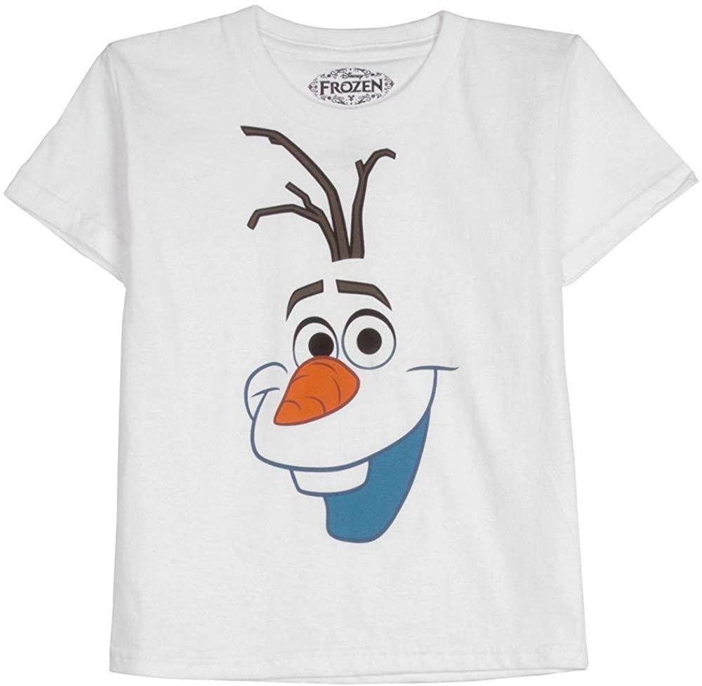 Disney Frozen Olaf Big Face Mens White T-Shirt