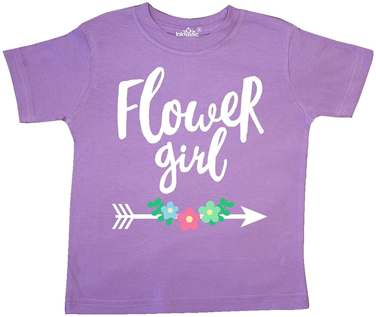 inktastic Flower Girl with Arrow and Flowers Toddler T-Shirt