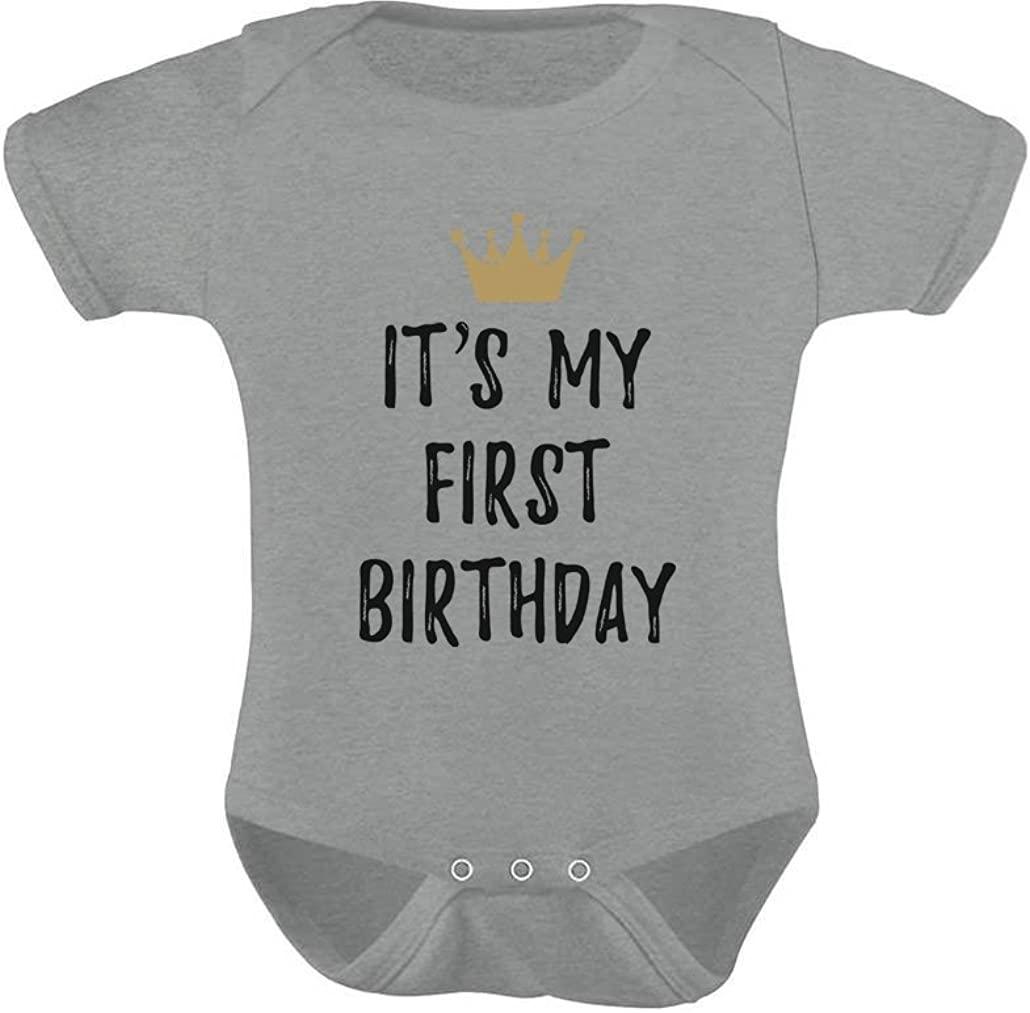 Baby Boys/Girls 1st Birthday Gifts One Year Old Birthday Crown Baby Bodysuit
