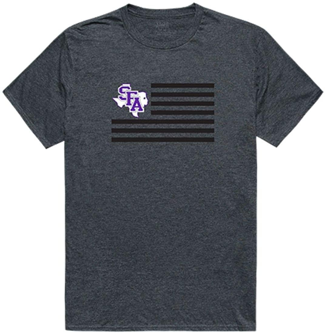 Stephen F. Austin State University Lumberjacks NCAA Flag Tee T-Shirt Heather Charcoal