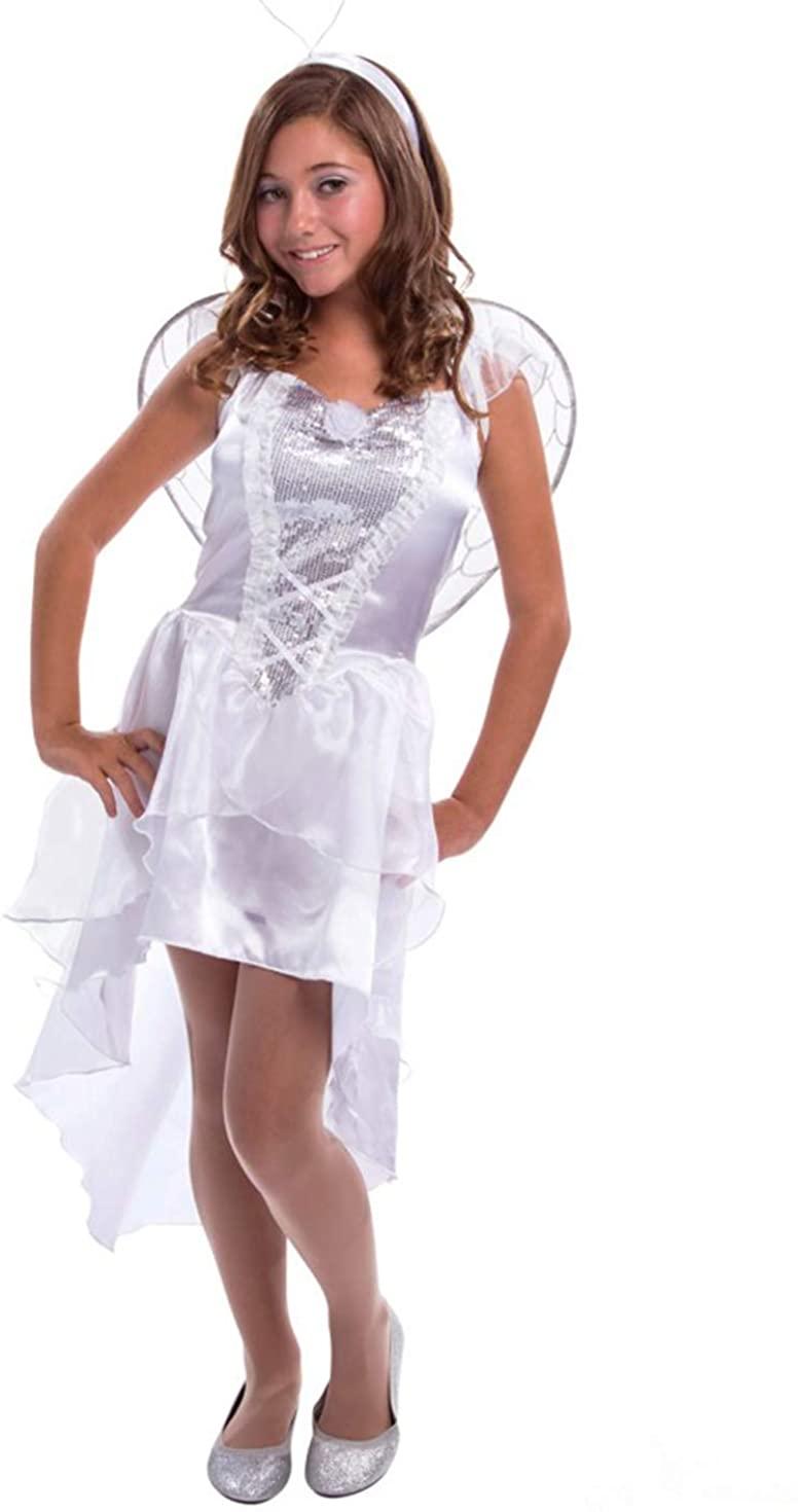 Morph White Angel Teen Costume - Large
