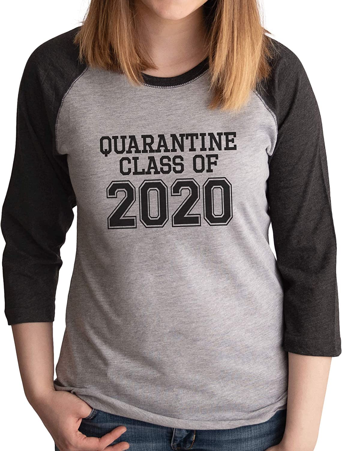 7 ate 9 Apparel Womens Quarantine Class of 2020 Grey Shirt
