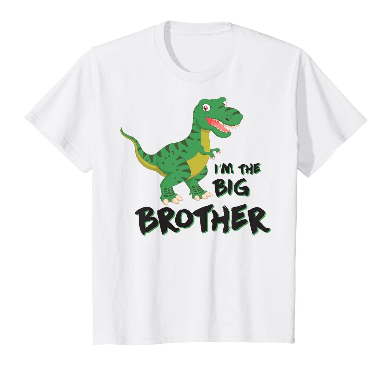 Kids I'm The Big Brother T-Rex Dinosaur Boys Apparel T-Shirt