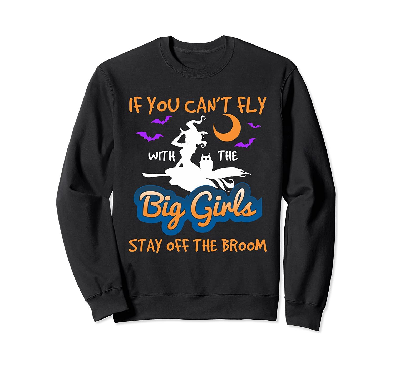Witch Broomstick Halloween TShirt - Flying Witch Broom Shirt Sweatshirt