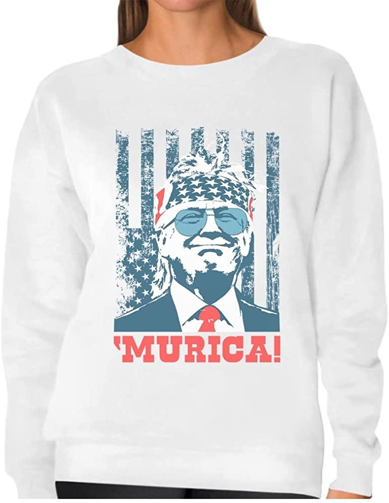 Donald Trump Murica Patriotic American Party 4th of July USA Women Sweatshirt
