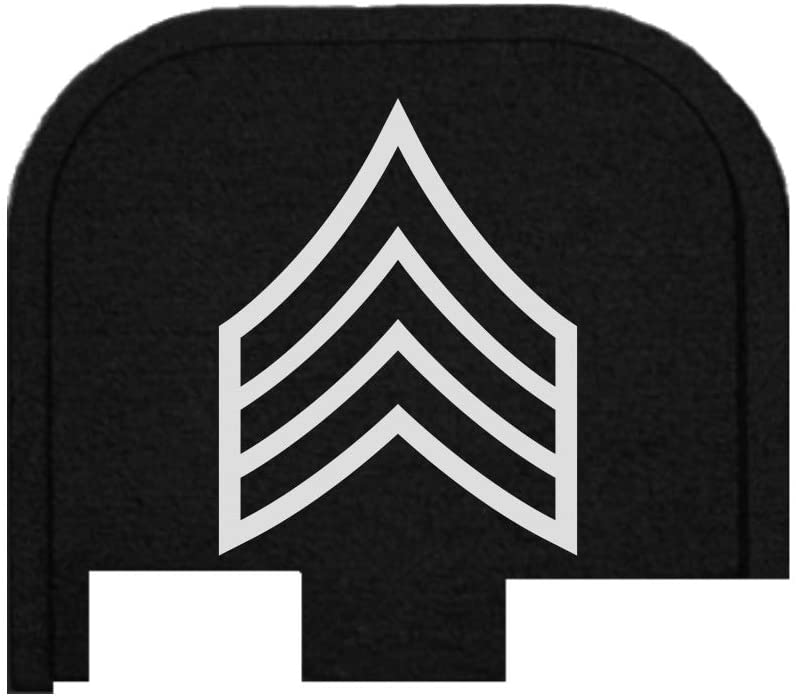 BASTION Laser Engraved Butt Plate, Rear Slide Cover Back Plate for Glock G43, G43X, and G48 9mm ONLY - Chevron