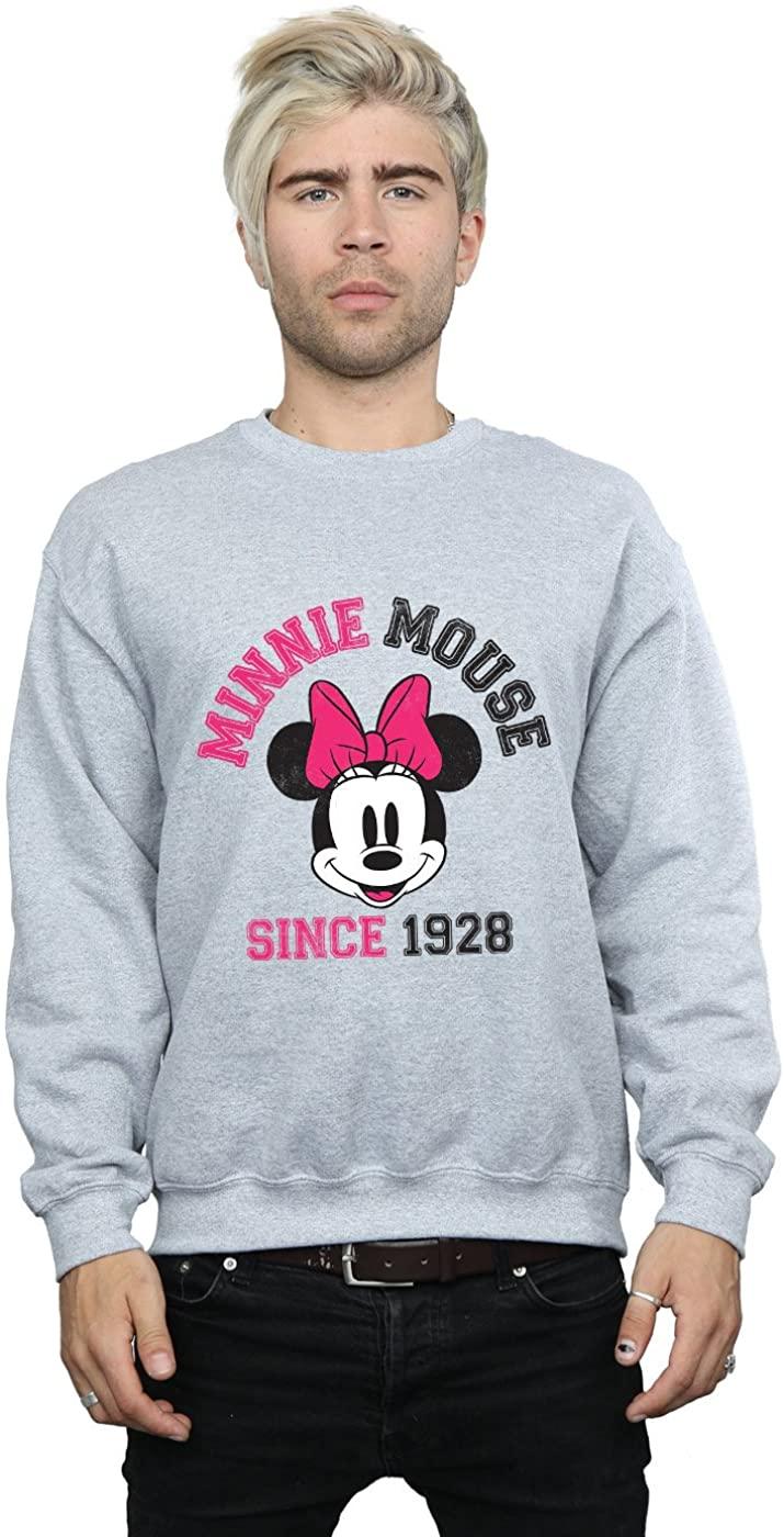 Disney Men's Mickey Mouse Since 1928 Sweatshirt Sport Grey Medium