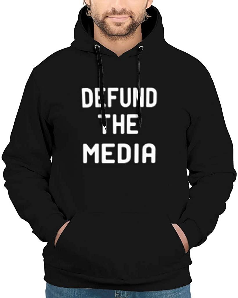 Fashop Men's Defund The Media Hoodies Funny Fake News Hoodies