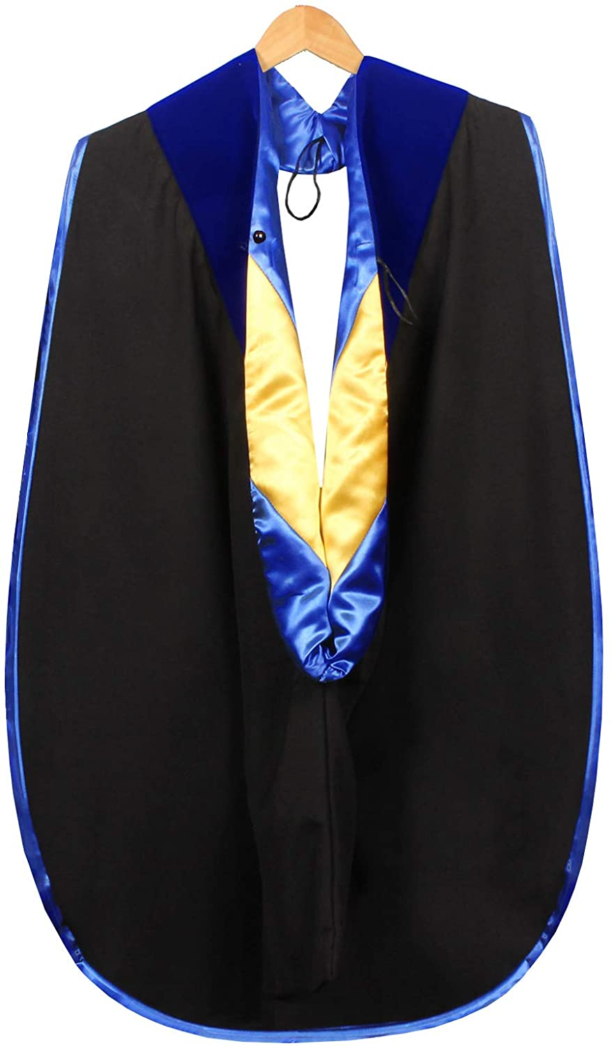 Tnghui Deluxe Graduation Doctoral Hood with NO Gold Piping,Available Customization