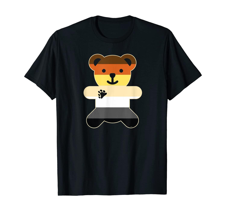 Bear Brotherhood Flag Bear Gay Pride T-Shirt