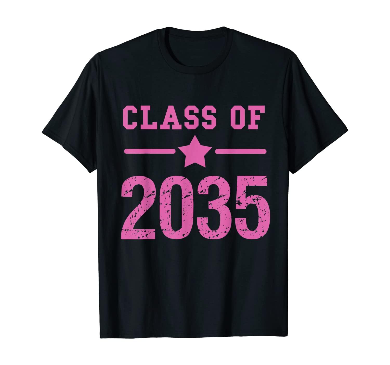 Class of 2035 Grow With Me Kindergarten School Graduate Gift T-Shirt