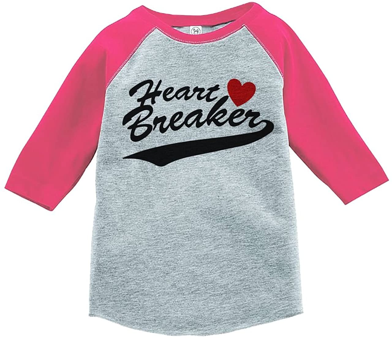 Custom Party Shop Kids Heart Breaker Happy Valentine's Day Pink Raglan