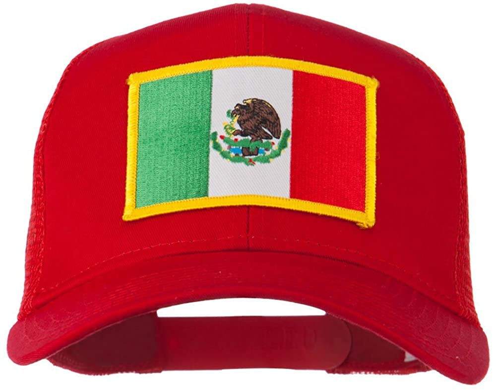 e4Hats.com Mexico Flag Patched Mesh Cap