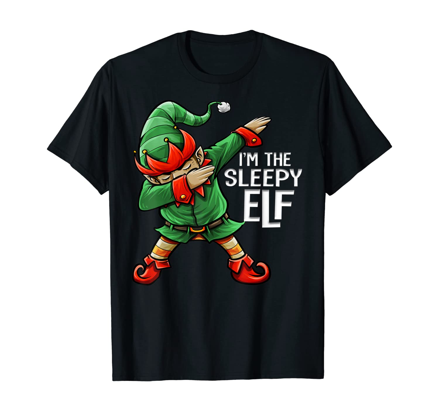 Christmas I'm The Sleepy Elf Squad Family Matching Men Boys T-Shirt