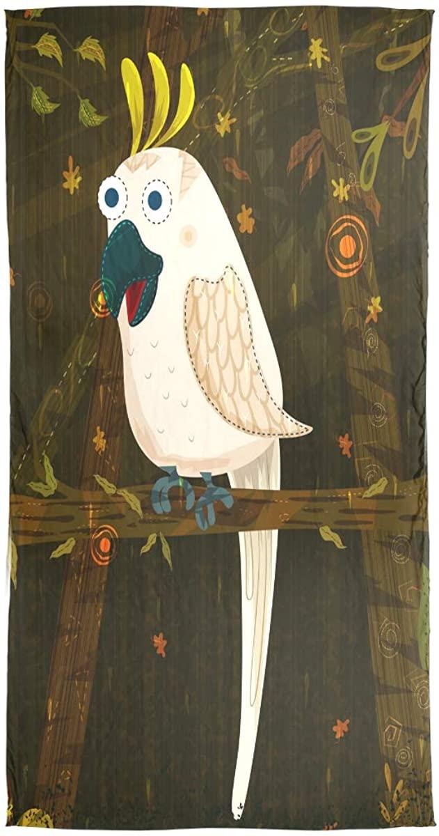 EELa Long Scarf Shawl For Women Lightweight Soft Pet Bird Cockatoo Printed Wrap 70x35 inches