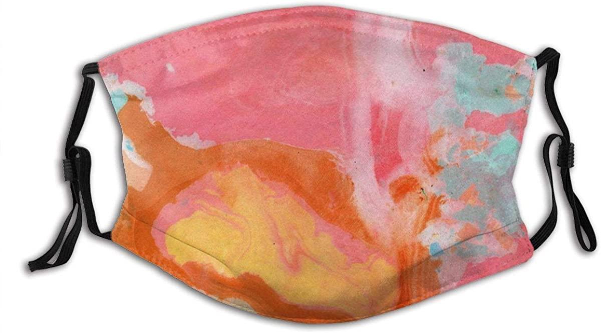 Colorful Rainbow Tie Dye Face Mask Fashion Dustproof Breathable Reusable Scarf Adjustable Washable Protective Bandana